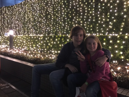Christmas lights in Shinjuku