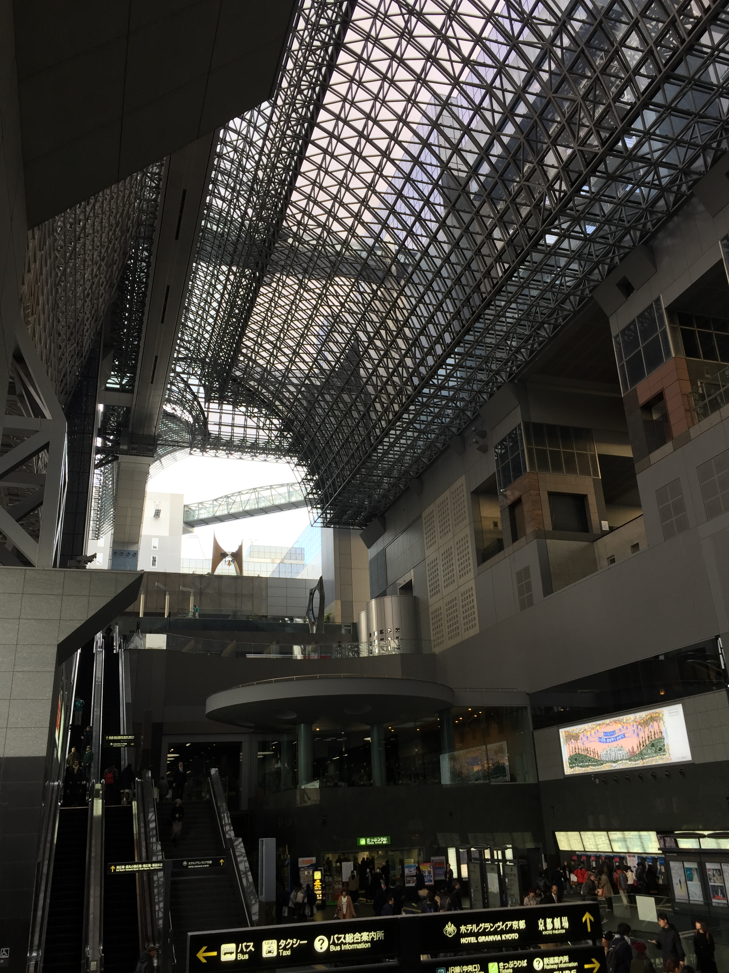 roof of kyoto station