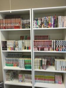 bookshelves packed with japanese manga akihabara tokyo japan