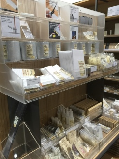 display of Japanese stationery at Muji in Chadstone