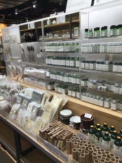 display of Japanese beauty products at Muji in Chadstone
