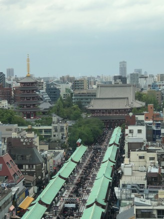 The Nakamise-dori and Senso_ji temple viewed from the Asakusa Culture Information Centre