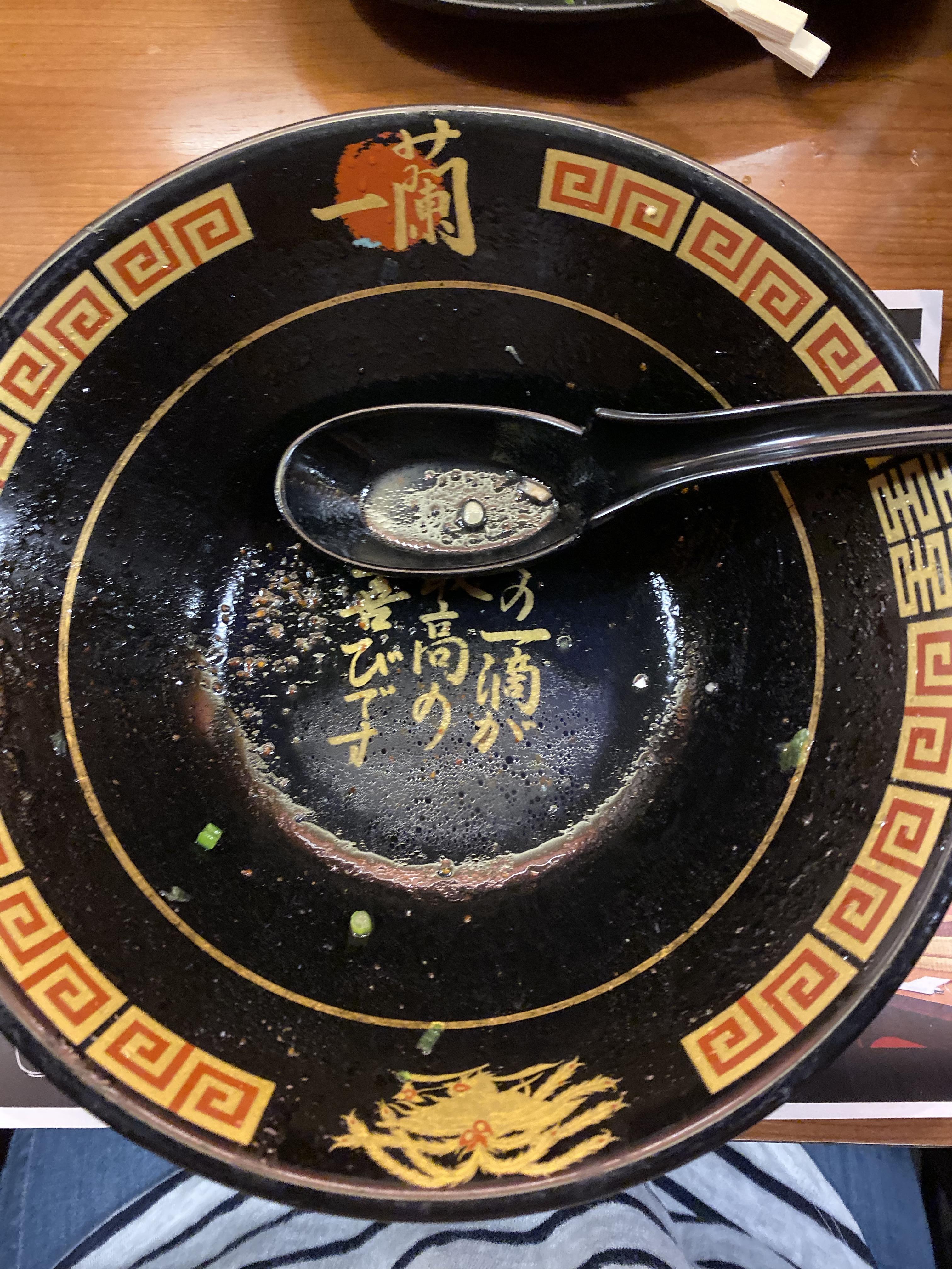 Ichiran Ramen Bowl empty