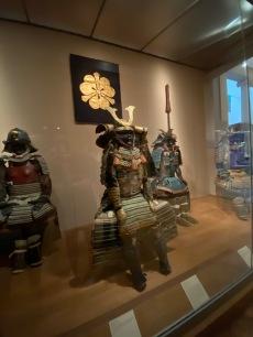 Three complete samurai armours