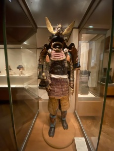 Samurai Armour with gold and red
